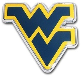 West Virginia Mountaineers Metal Auto Emblem with Colored Team Logo by Elektroplate