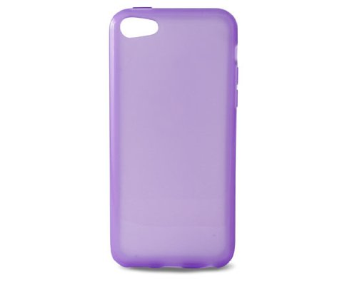 KSIX B0913FTP04 TPU Flex Cover für Apple iPhone 5C translucent/lila