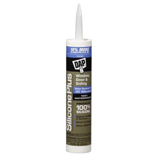 Dap 08771 Clear Silicone Plus Premium Silicone Rubber Sealant 10.1-Ounce - Dap Silicone Rubber Sealant