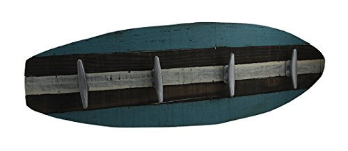 Zeckos Retro Wooden Surfboard Wall Hanging w/Cleat Hooks
