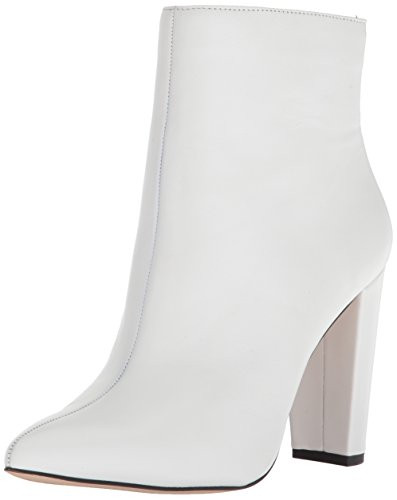 Jessica Simpson Women's Teddi Fashion Boot, White, 5 Medium (White Heel Boots)