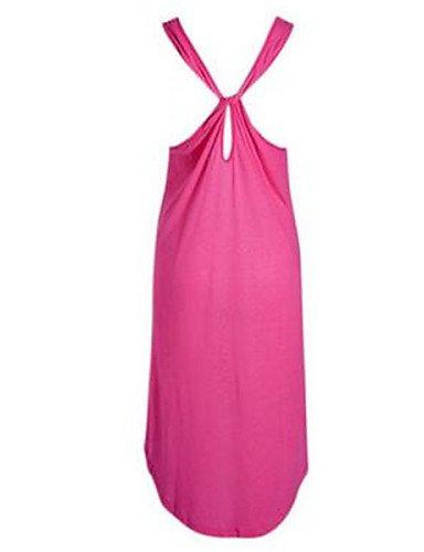 PU&PU Robe Aux femmes Ample Street Chic,Imprimé U Profond Au dessus du genou Polyester , pink-one-size , pink-one-size