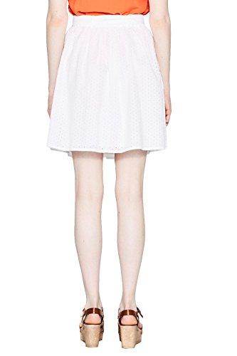 Esprit 067ee1d014, Falda para Mujer, Blanco (Off White 110), 42