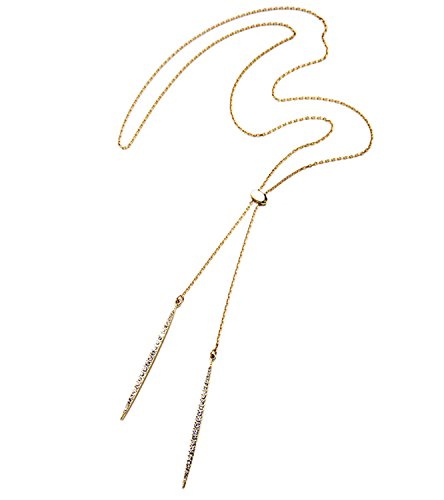 spyman Summer Simple Gold Silver Rose Gold Color Alloy Long Necklace Women Jewelry Accessories Pendant Necklace Antique Gold Plated (Discount Draperies Online)
