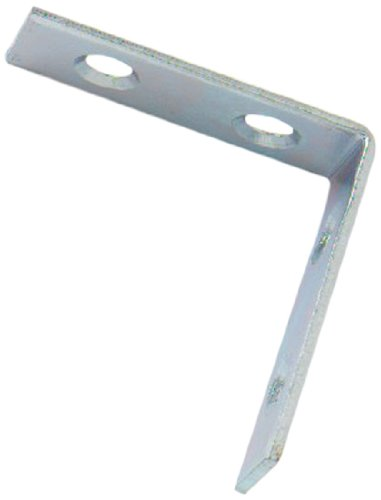 Bulk Hardware BH01109 Bright Zinc Plated Corner Braces Brackets Plates, 63 mm (2.1/2 inch) - Pack of (Bright Chipboard)