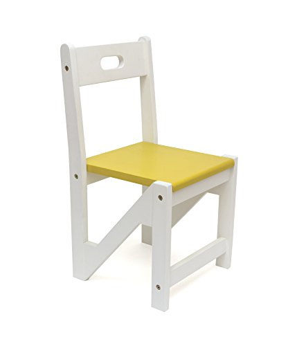 Lipper International 505-2Y Kids' ZigZag Stacking Chairs for Play or Learning, 12.5