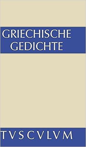 Amazoncom Griechische Gedichte Mit Ubertragungen