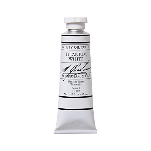 M. Graham 1-1/4-Ounce Tube Oil Paint, Titanium White