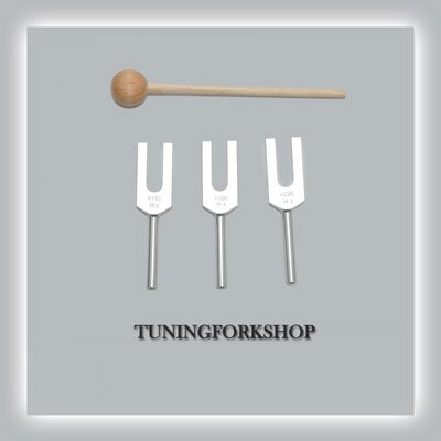 (Angel Tuning Fork for Healing with Wood Mallet+Pouch+Free Shipping)