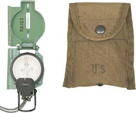 Olive Drab Cammenga Genuine Military Lensatic Phosphorescent Compass