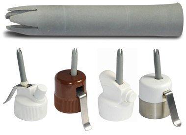 Garniertülle Ersatztülle Stecktülle grau 6,5 cm lang für viele ältere Sahnespender