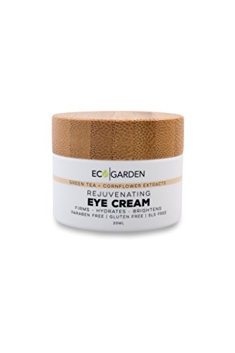Calendula Under Eye - Eco Garden Rejuvenating Eye Cream, Organic, Green Tea, Cornflower Extract, Smooth Fine lines, Firms, Plumps, Hydrates and Tones, Reduces Under Eye Puffiness,