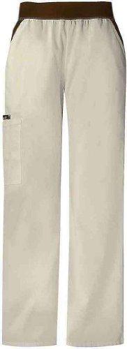 Cherokee 1031 Women's Flexibles Cargo Pocket Scrub Pant Khaki 4X-Large