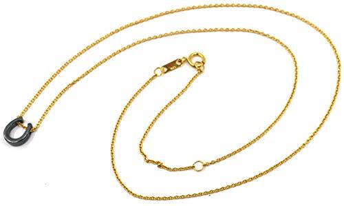 Lucky Horseshoe Necklace - Burnished 925 Silver - 18
