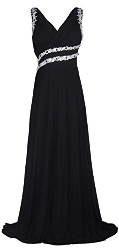 conail Coco Women's Elegant Royal Formal Dresses Wear Long Wedding Party Gowns (XXL,71Black)