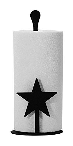 - Iron Counter Top Star Paper Towel Holder - Black Metal