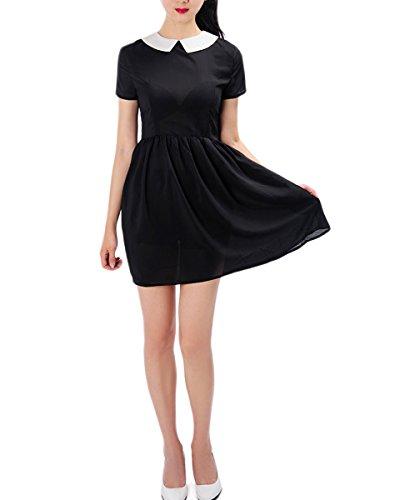 Persun Womens Casual Dress Collar