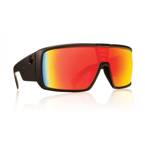 Dragon Sunglasses - Domo / Frame: Matte Black Lens: Red Ion