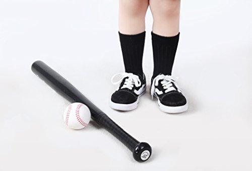 IMOZY Girls Crew Socks- Solid Black Dress Socks Pack- Size 10.5-13.5 for Little Kids School Uniform Socks- 6 Pair by IMOZY (Image #2)