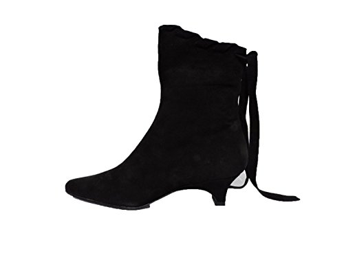 Claudia Ciuti Womens Fantine Black Sued Ankle Boots Booties 1.75