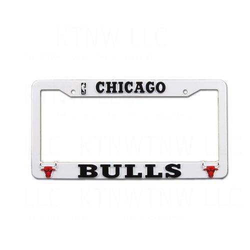 Officially Licensed NBA Plastic License Plate Frame - Chicago Bulls ...