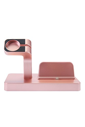 Apple Watch Stand, iPhone Docking Station, 2-in-1 Multi-Charging Station Hub for Apple Watch Series and All Smart Phone by SPRAWL (Image #4)