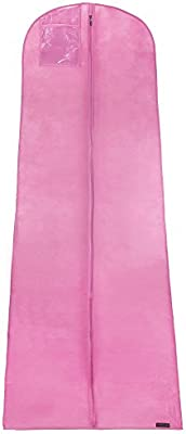 Hangerworld Housse Respirante De Rangement Et Protection Pour Robe De Mariéesoirée Rose