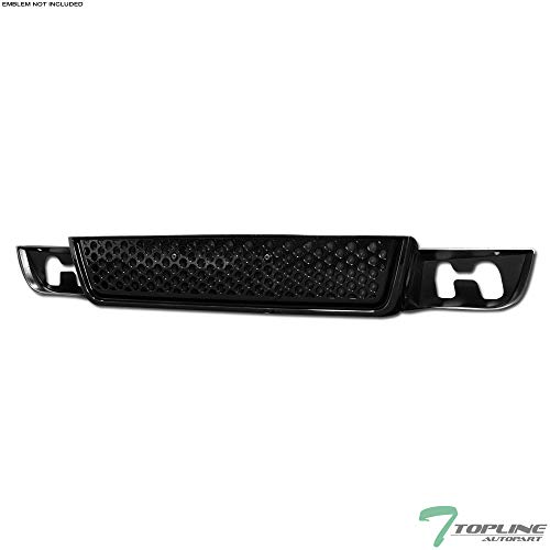 (Topline Autopart Black Round Hole Mesh Front Lower Bumper Grill Grille ABS For 07-14 GMC Yukon/XL/Denali)
