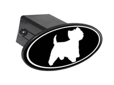 Westie West Highland White Terrier Dog Oval Tow Trailer Hitch Cover Plug Insert 2