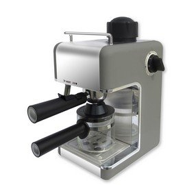 Bene Casa BC-99151 4-Cup Espresso Maker with Frother, Silver