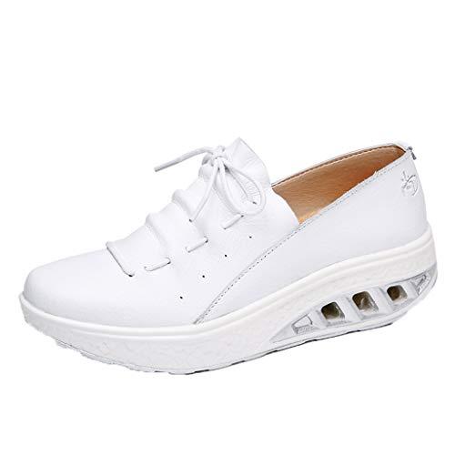 Midress Women's Easy Slip On Work Office Uniform Resistant Flatform Daily Life Shoes Platform Lace-Up Oxfords Shoes Dress Shoes]()