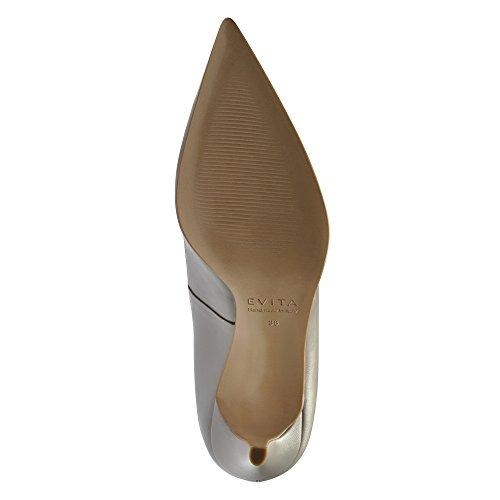 Jessica Mujer Pumps piel lisa gris claro