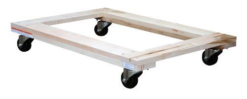 - Vestil HDOF-2436-9 Open Deck Hardwood Dolly, 900 lbs Capacity, 36