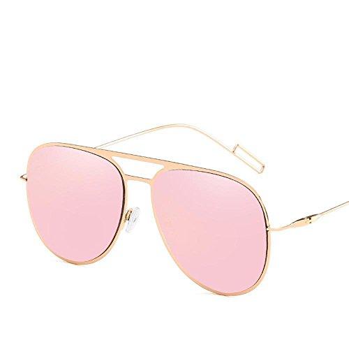 de inoxidable shing sol cine color gafas europea Aoligei tendencia gafas acero Gafas Metal sol de sol D de de señora hombres Xq0nwxUpCw