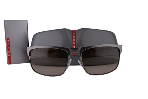 Prada Sunglasses PS56PS Gunmetal Rubber w/Brown Gradient Lens DG11X1 - 49mm Cat Prada Sunglasses Eye