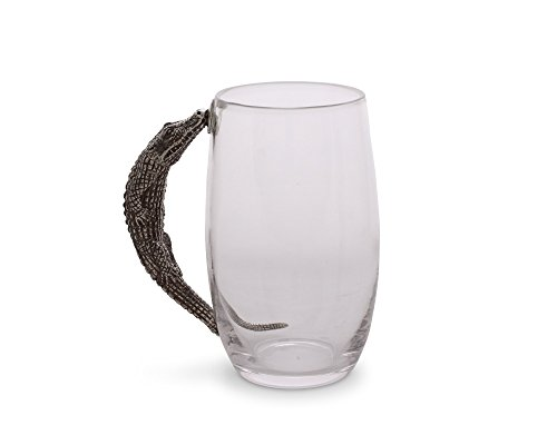 Vagabond House Glass Beer Mug With Pewter Alligator Handle 6