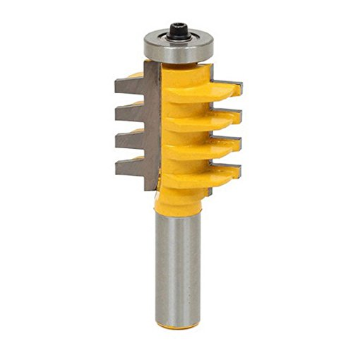 """Durable 1/2"""", 1/4"""" Shank Rail Stile Glue Joint Router Bit Cone Tenon Cutter from dufu-beauty-store"""