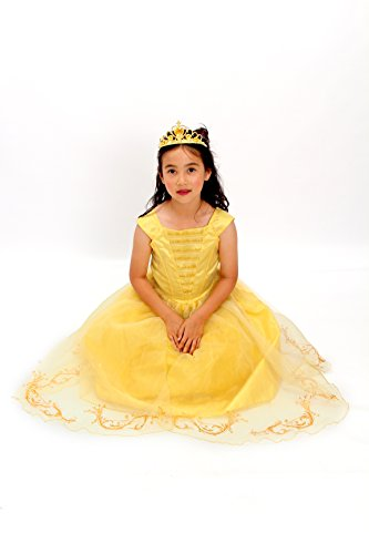 Light Up Girl Halloween Costumes (Yellow Belle the beauty princess costume new light up gown free tiara T XS S M …)