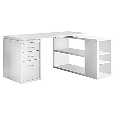 Monarch L-Shaped Contemporary Home Office Computer Desk (VM-7023)