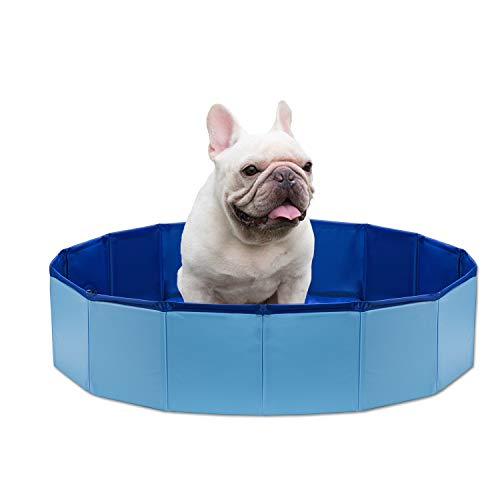 NHILES Portable Pet Dog Swimming Pool, Collapsible Bathing Tub, Indoor & Outdoor Foldable Leakproof Cat Dog Pet SPA, Medium & Small Sized Dog by NHILES