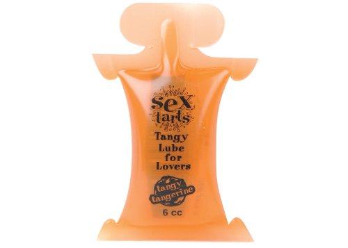 TLC Sex Tarts Lube - Tangy Tangerine - 6 cc (6 ml) - Pillow Pack