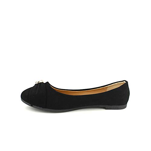 Boaime Cendriyon Noir Noire Femme Ballerine Chaussures U7xa7Hz