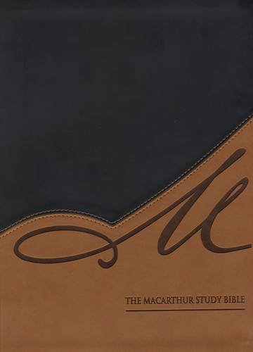 The NASB, MacArthur Study Bible, Leathersoft, Black/Tan: for sale  Delivered anywhere in Canada