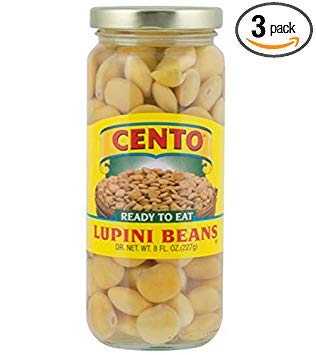 Cento Lupini Beans 8 oz Jars - Pack of 3