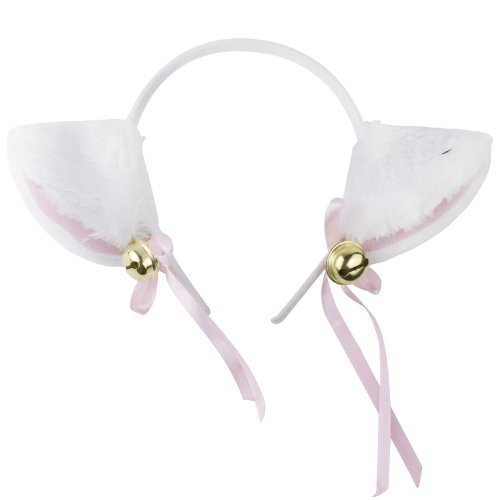 [niceeshop(TM) Sweet Cat Ears Kitten Cosplay Costume Headband Halloween Hair Clip,White and Pink] (Halloween Costumes With Pink Hair)