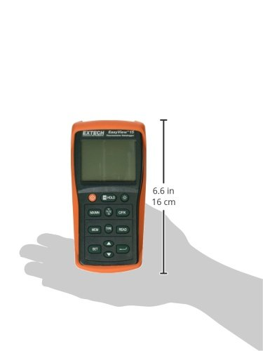 Extech EA15 Easy View Temperature Datalogging Dual Input Thermometer by Extech (Image #1)