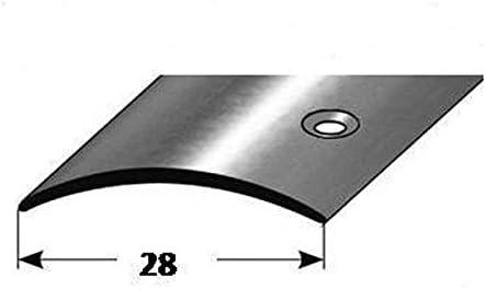 Typ /Übergangsprofil Edelstahl poliert, 1 mm St/ärke /Übergangsschiene /Übergangsleiste 28 mm seitlich gebohrt 13