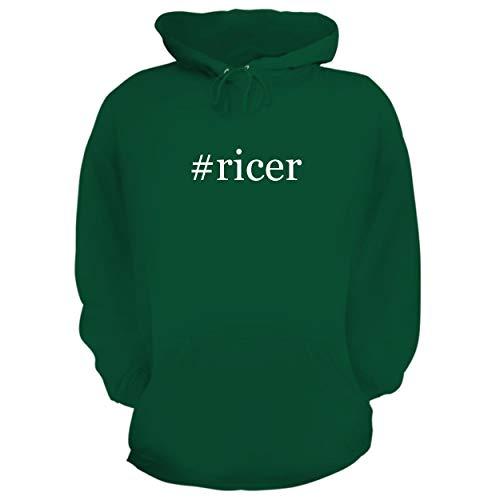 (BH Cool Designs #Ricer - Graphic Hoodie Sweatshirt, Green, Medium)