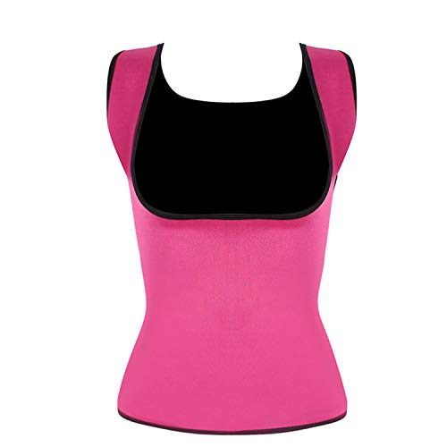 Neoprene Sweat Sauna Hot Body Shapers Vest Waist Trainer Slimming Vest Shapewear,Pink,S