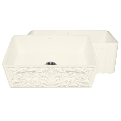 Whitehaus Collection WHFLGO3018-BISCUIT Gothichaus Sink, Biscuit